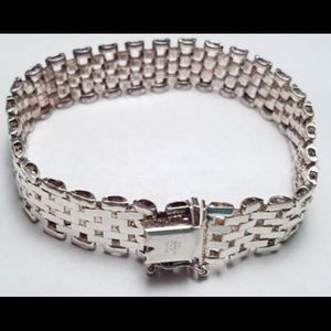 Jewelry - Italy Milor Sterling Silver Wide Gate bracelet